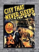 1950's Movie - CITY THAT NEVER SLEEPS - LOGO NO TEXT / canvas print - self adhesive poster - photo